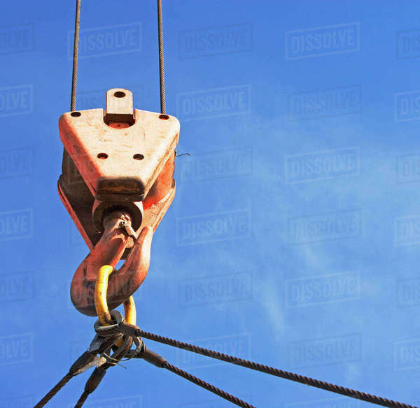 Close up of crane hook Royalty-free stock photo