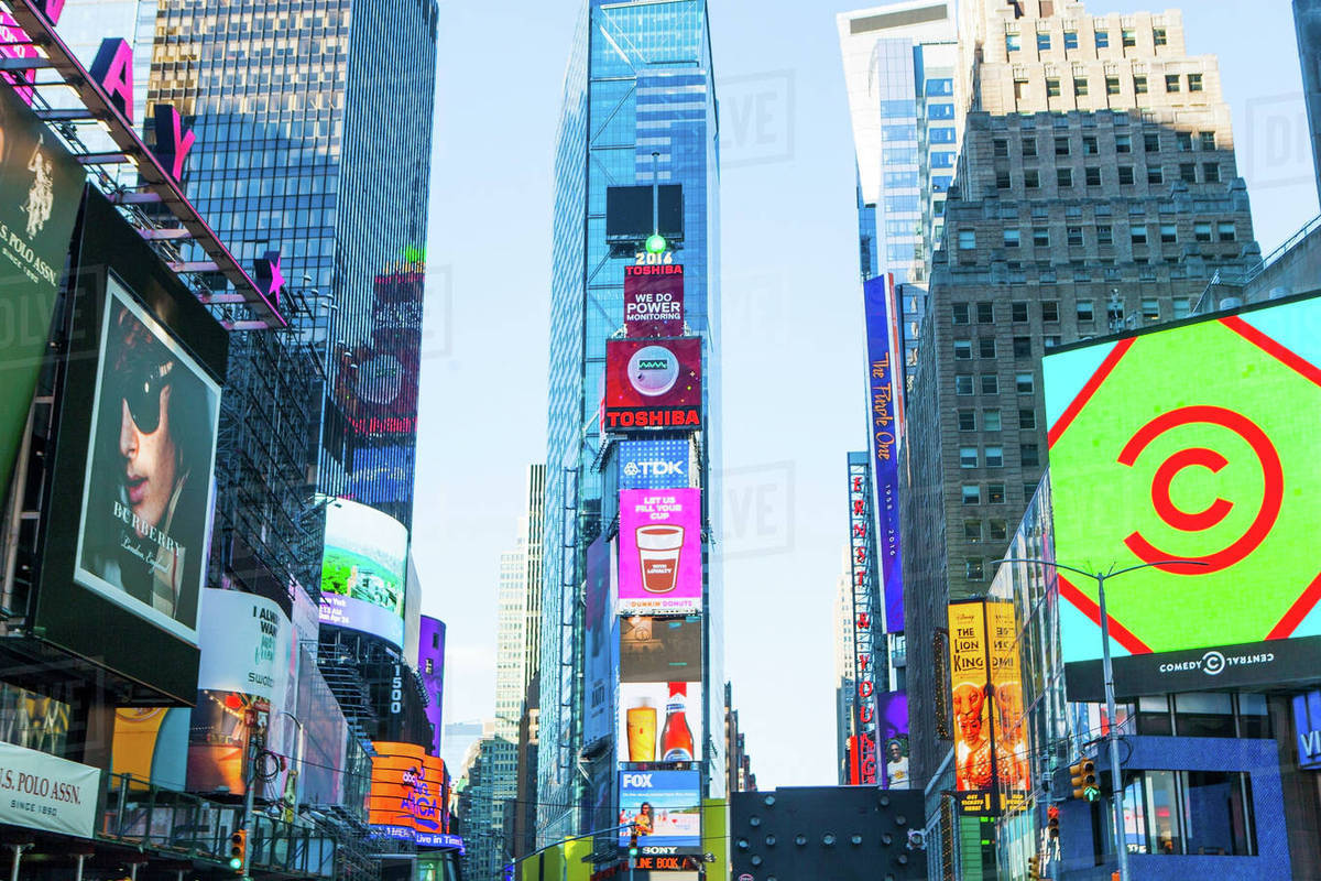 New York City Times Square Neon Lights And Ads Of D1028 93 235