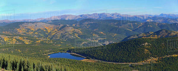 USA, Colorado, Scenic view of Echo lake from Mount Evans Royalty-free stock photo