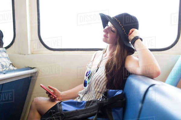 Woman travelling alone Royalty-free stock photo