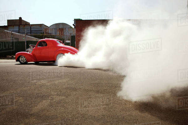 Hot road burnout Royalty-free stock photo