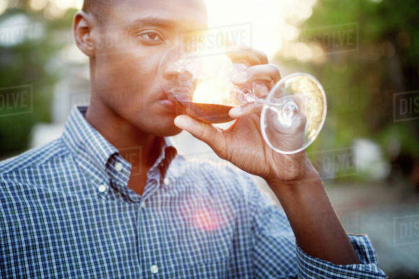 Man drinking wine Royalty-free stock photo