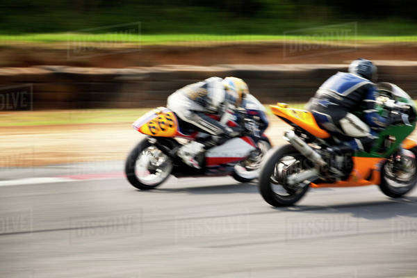 Motorcycles racing on track Royalty-free stock photo