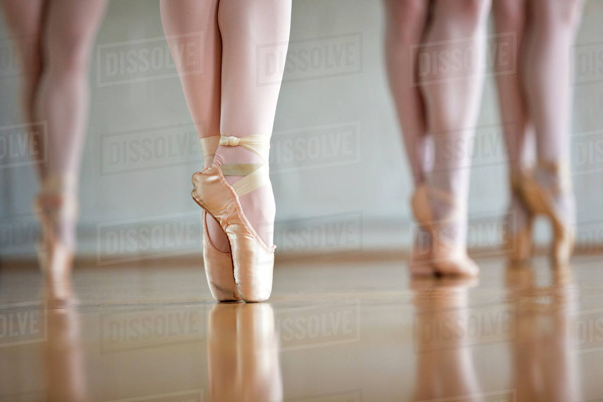 Close Up Of Ballet Dancers Feet Stock Photo Dissolve