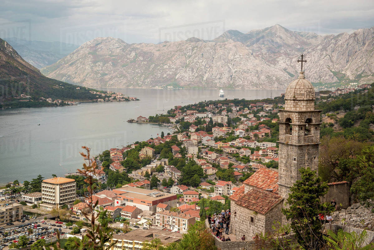 church of our lady of remedy in kotor stock photo dissolve