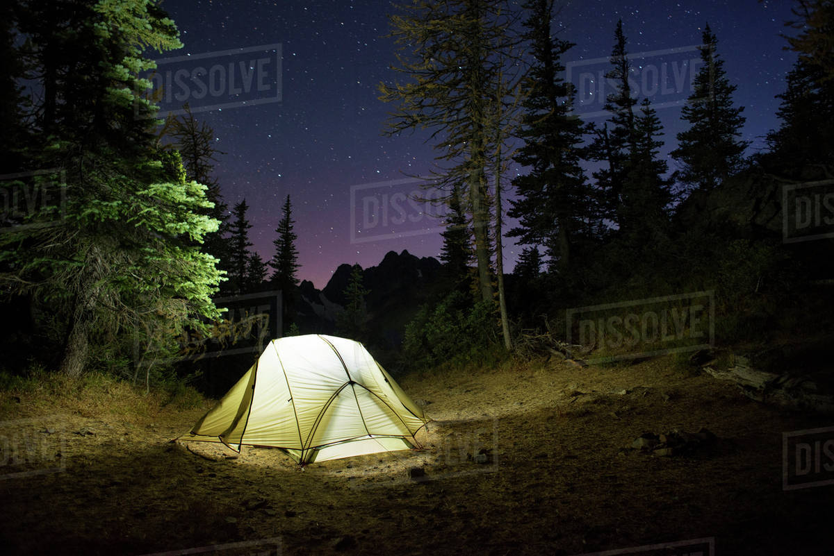 Camping in the woods at night Scary Tent In Forest At Night Dissolve Tent In Forest At Night Stock Photo Dissolve