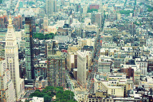 Aerial view of New York City Royalty-free stock photo