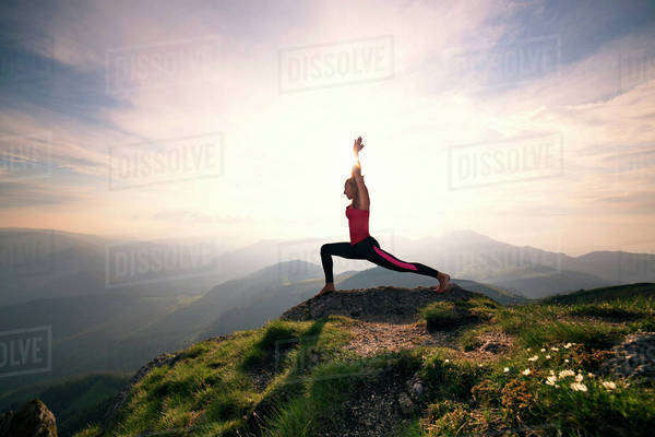 Young woman doing yoga, Royalty-free stock photo