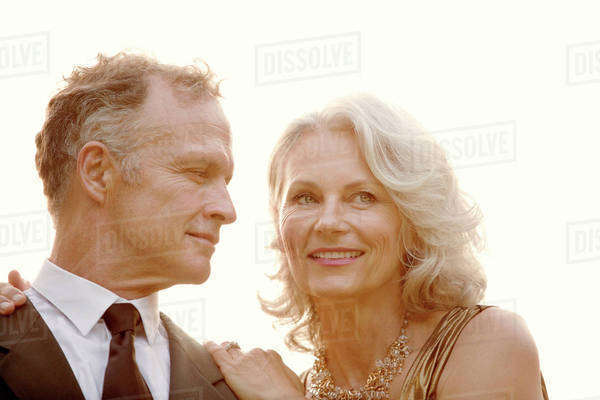 Portrait of mature couple in formal clothing Royalty-free stock photo