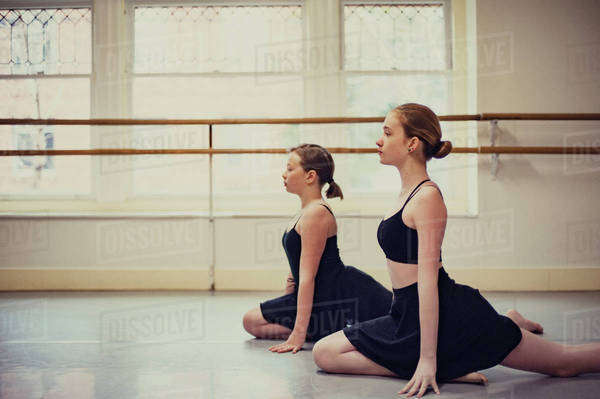 Dancers practicing ballet at dance studio Royalty-free stock photo