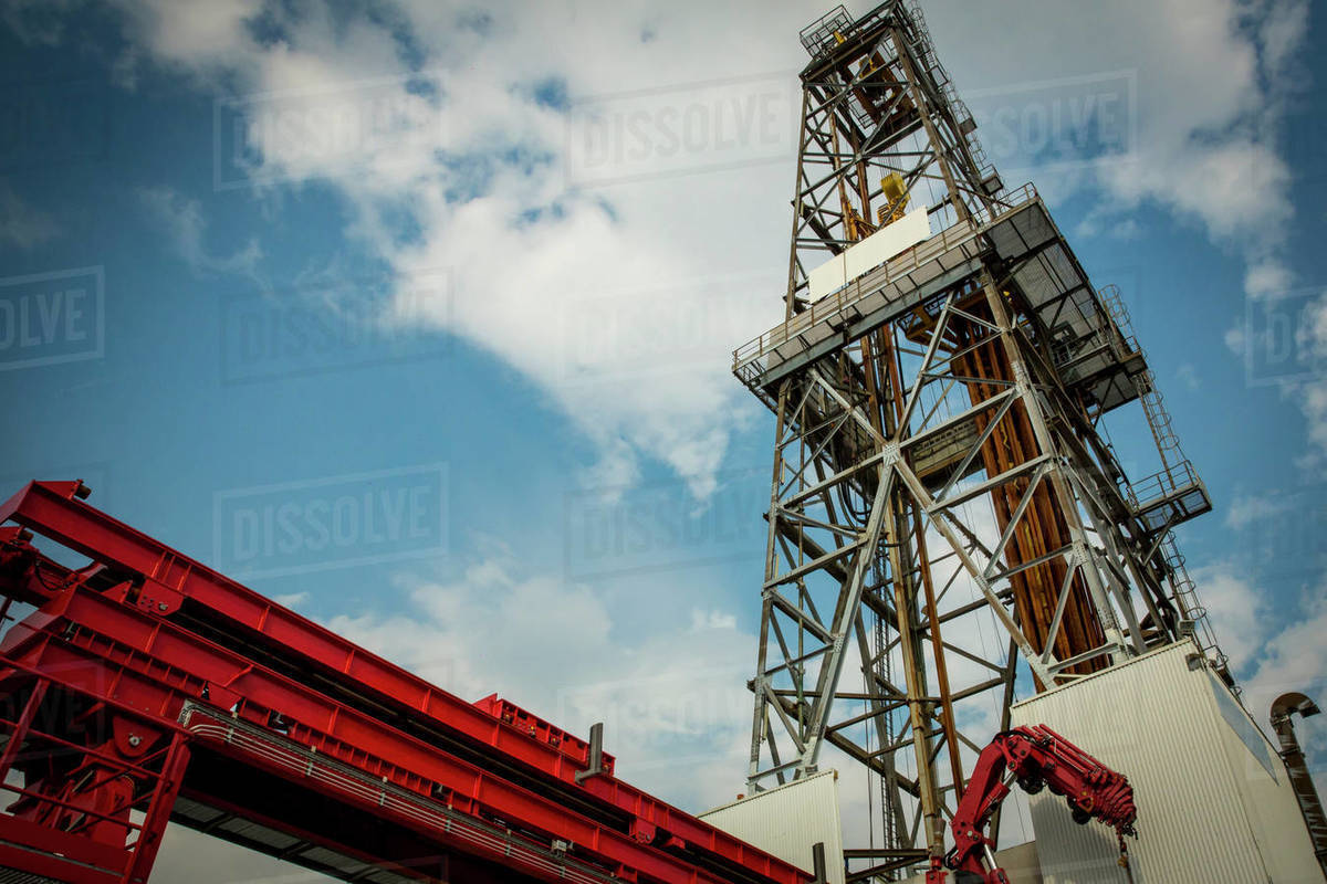 STAVANGER NORWAY OIL RIG TOWER Royalty-free stock photo
