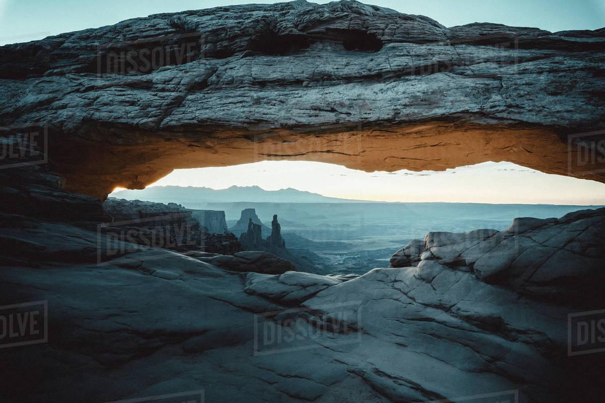 Mesa Arch environment in utah Royalty-free stock photo