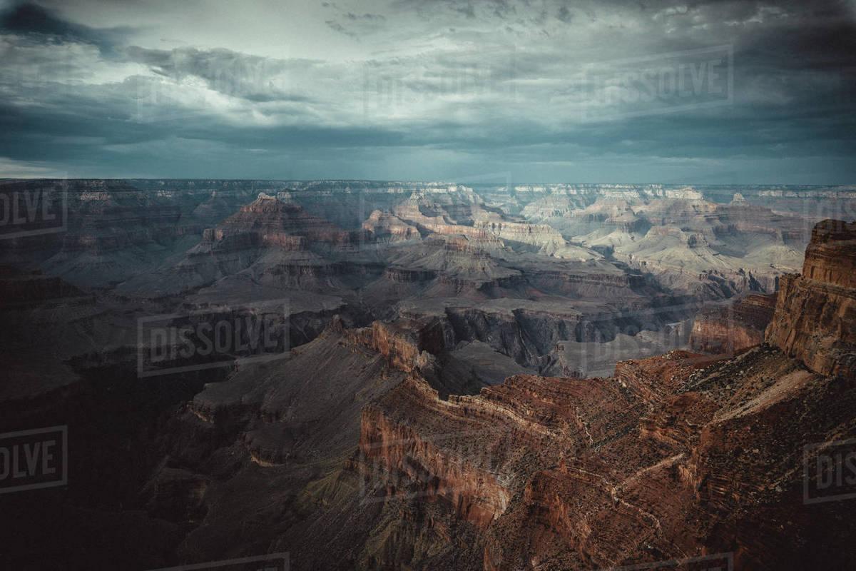 Sutset at grand canyon at pima point Royalty-free stock photo