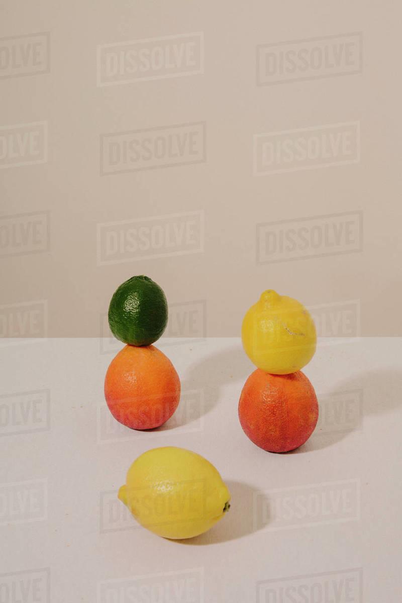 Stacked Citrus Fruit Still Life Royalty-free stock photo