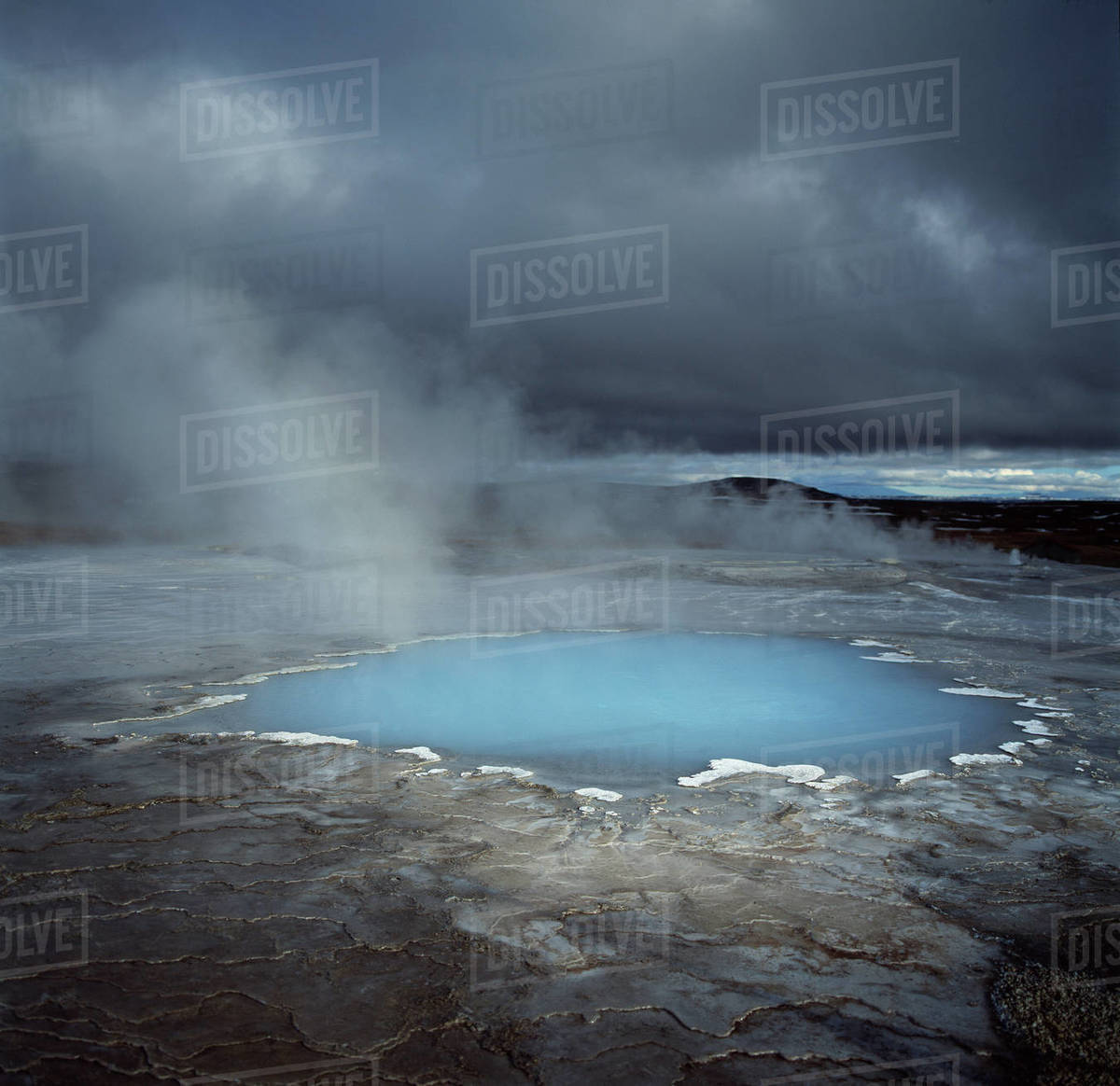 Geyser at the geothermal area at Hveravellir in the centre of Iceland Royalty-free stock photo