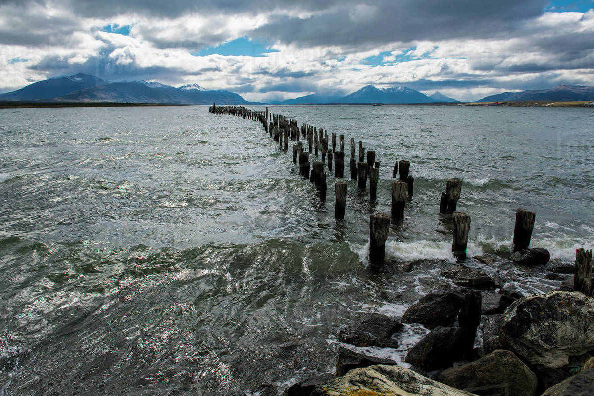 Puerto natales pier, Patagonia, Chile, South America Royalty-free stock photo