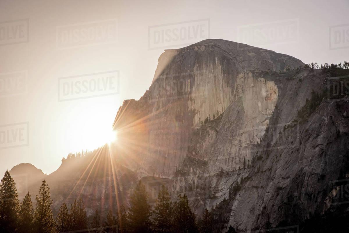 Sunrise over Half Dome in Yosemite Royalty-free stock photo