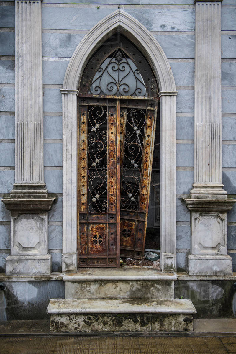 Tomb at the La Recoleta cemetery in Buenos Aires Royalty-free stock photo
