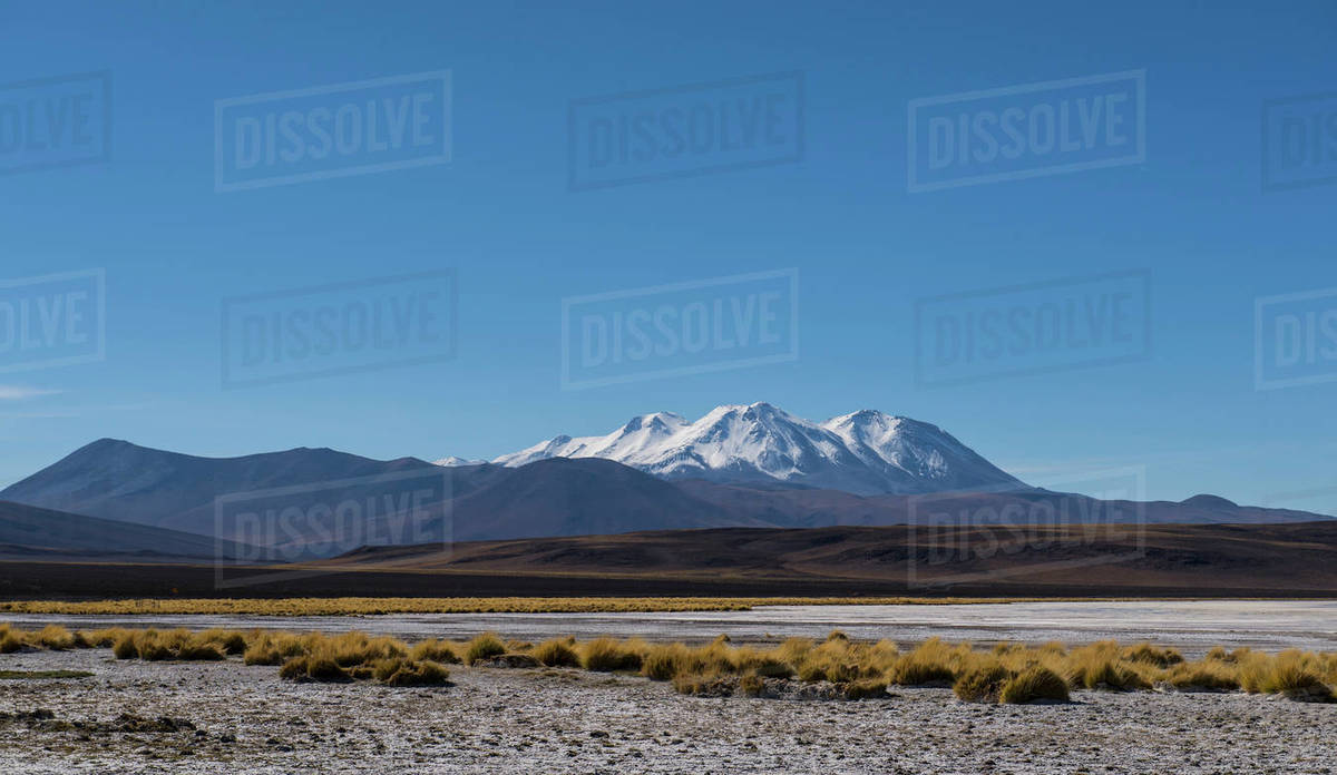Snowcapped mountain in the Antofagasta Region in Chile Royalty-free stock photo