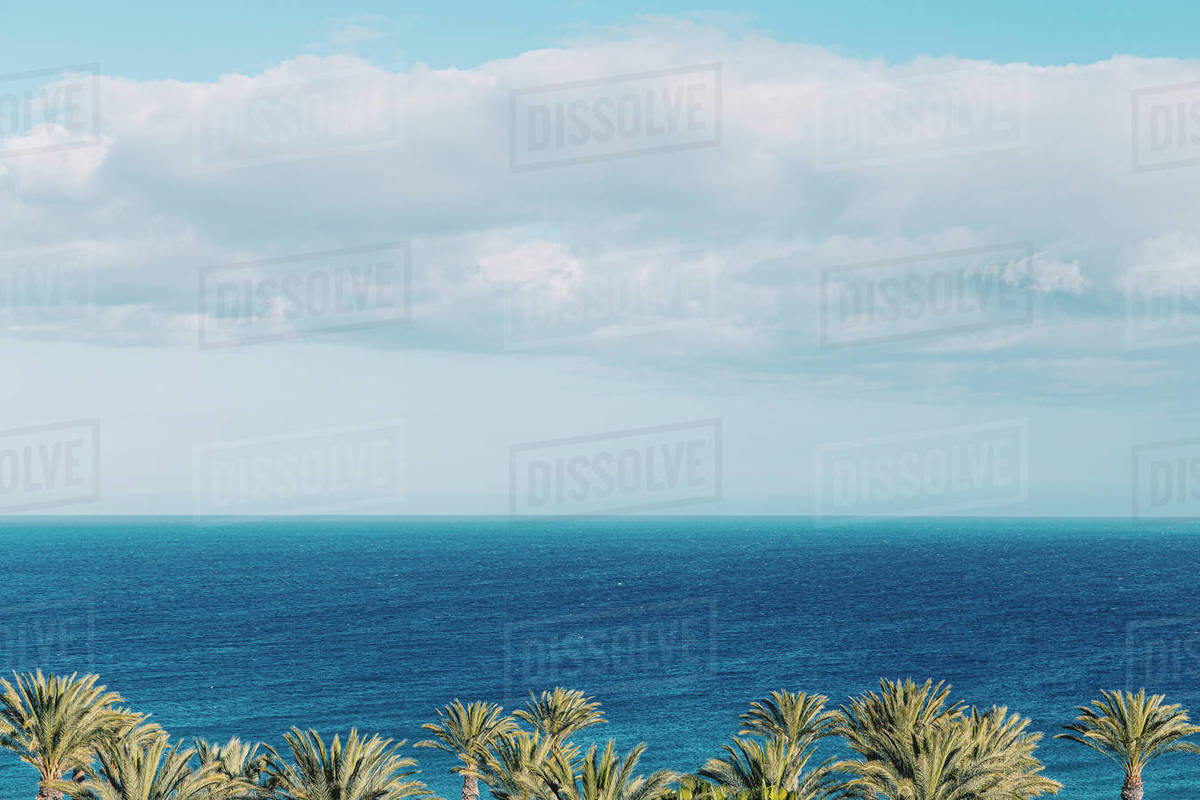 Looking out to sea warm summer day Royalty-free stock photo