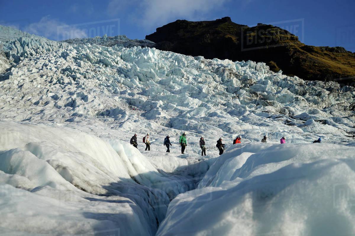 Glacier Travel in Skaftafell, Iceland Royalty-free stock photo