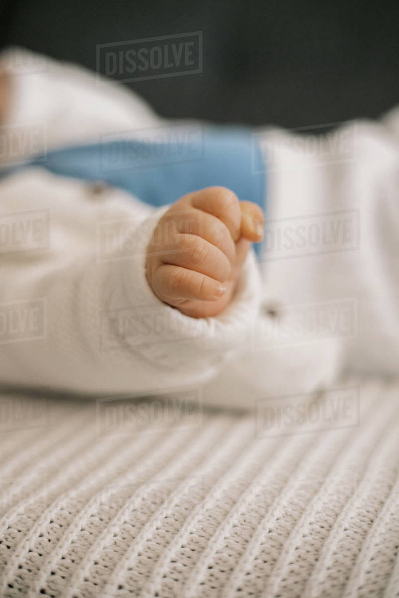 Close up of baby little hand Royalty-free stock photo
