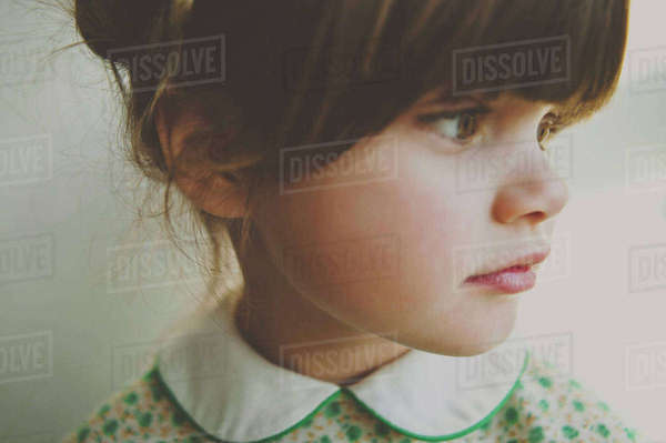 Close-up of thoughtful girl Royalty-free stock photo