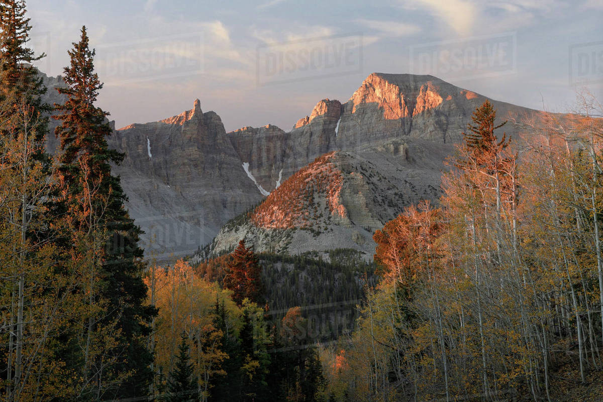 Sunrise on Wheeler Point in Great Basin National Park Royalty-free stock photo