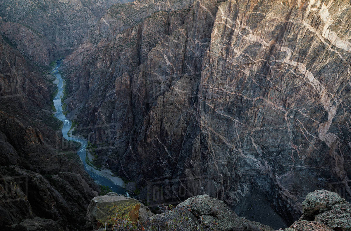 Canyon of the Black Canyon of the Gunnison National Park Royalty-free stock photo