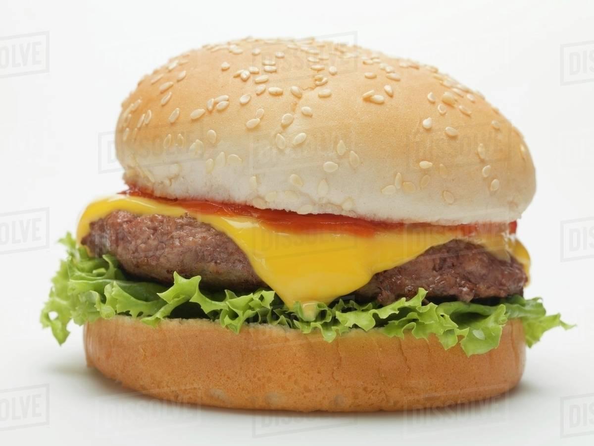 A cheeseburger Royalty-free stock photo