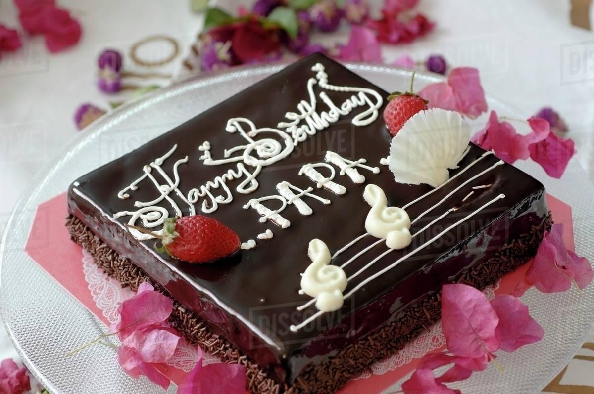 Square Birthday Cake Stock Photo Dissolve
