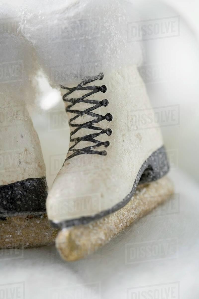 Christmas decorations: ice skates - Stock Photo - Dissolve