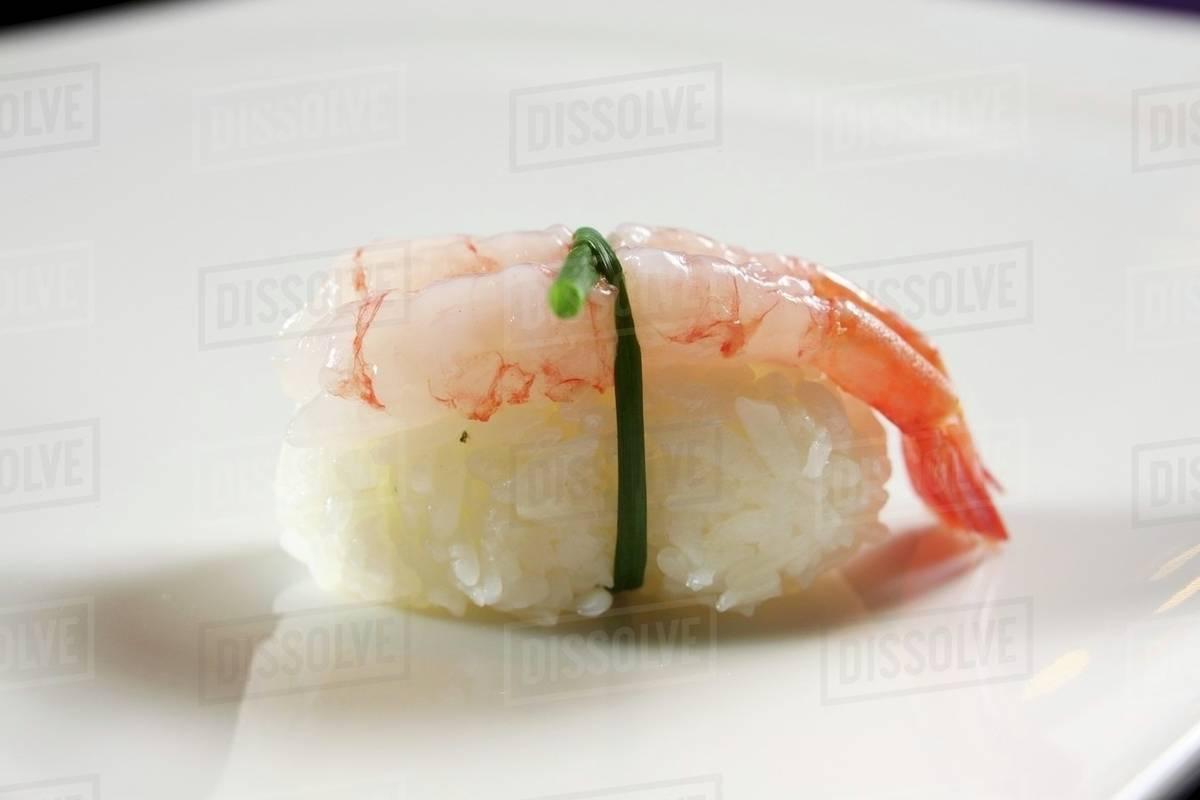 An Ebi Sushi Nigiri Sushi With A Prawn Stock Photo Dissolve