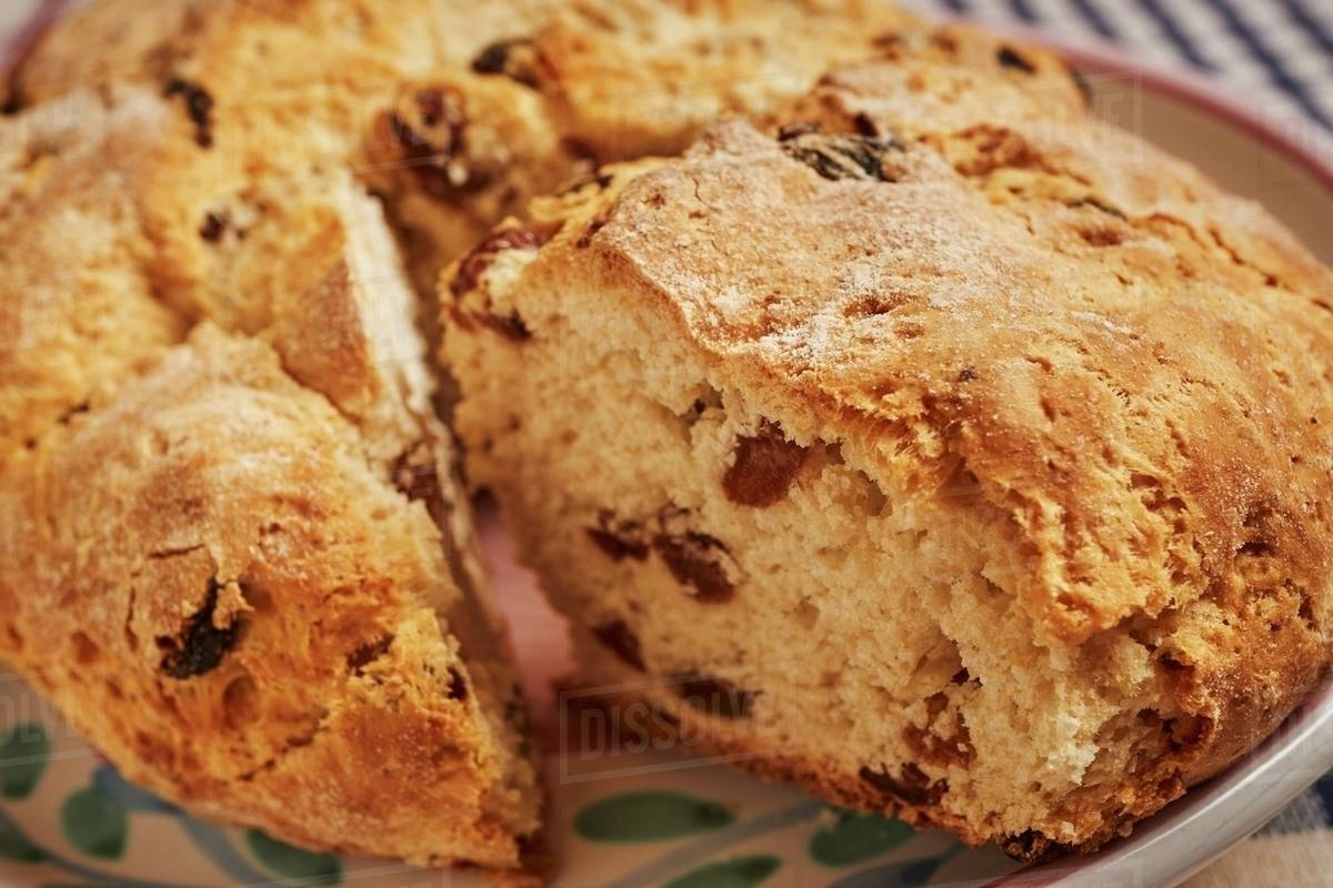 Loaf of Irish Soda Bread with Slice Removed