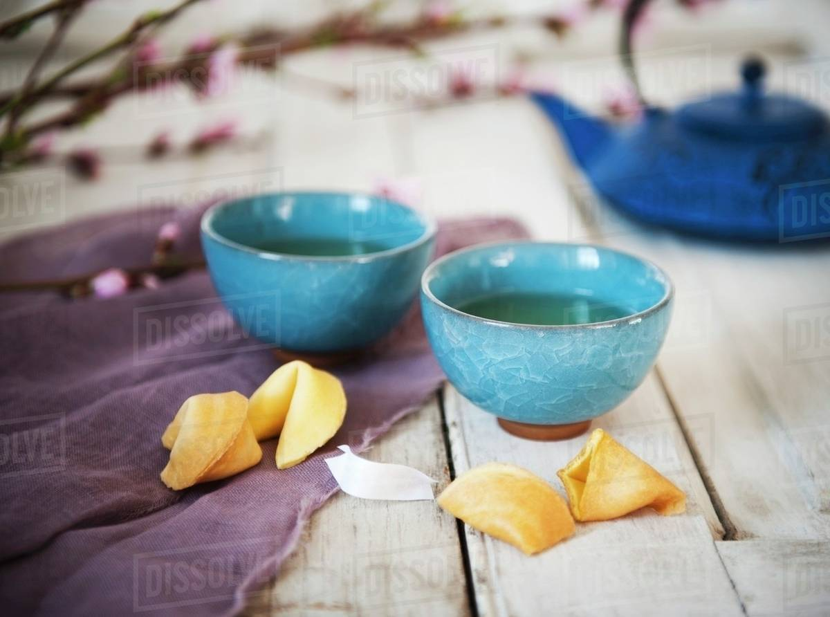 Two Cups Of Tea In Asian Style