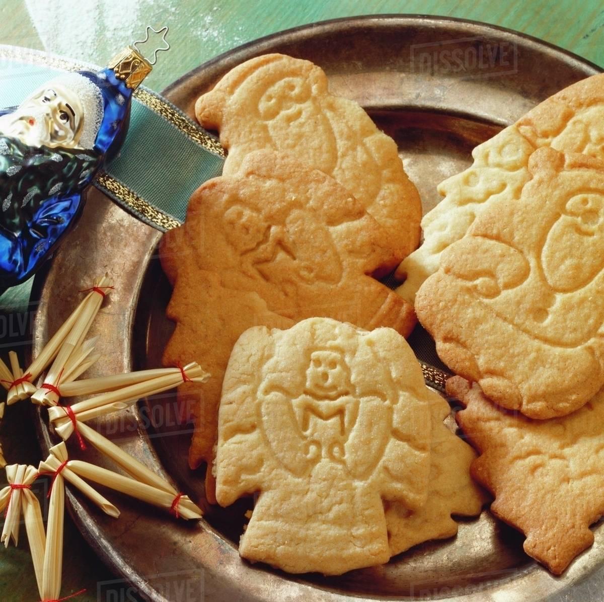 Spekulatius Cookies Stock Photo