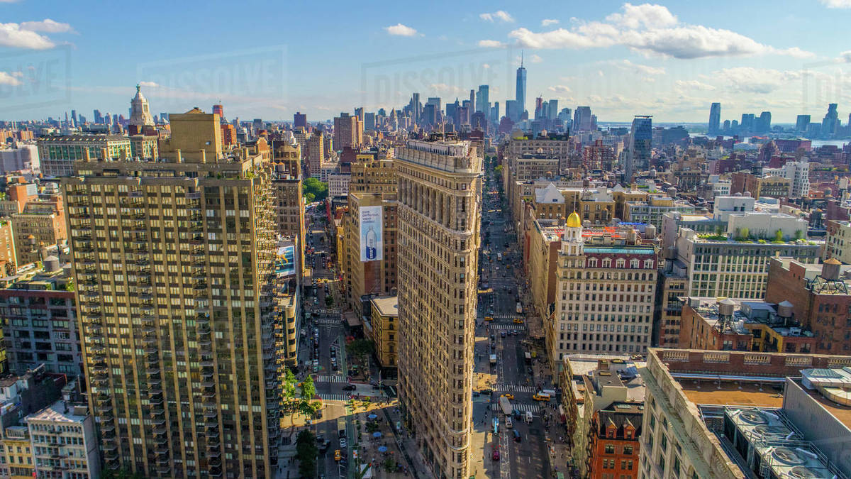 Aerial view of the Flatiron Building Royalty-free stock photo