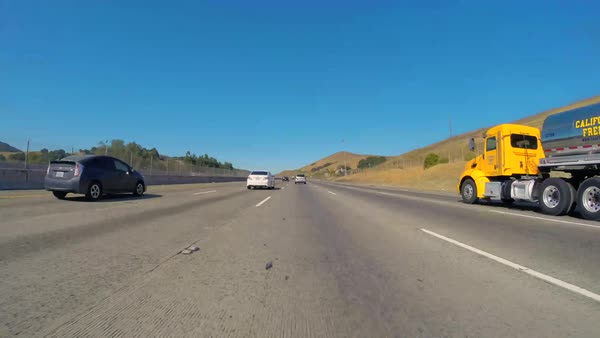 Hyperlapse of driving on a freeway in California Royalty-free stock video