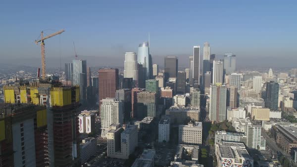 Aerial shot of Los Angeles cityscape Royalty-free stock video
