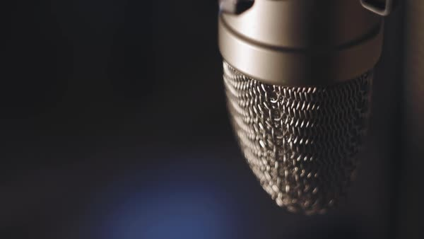 Microphone at the studio Royalty-free stock video