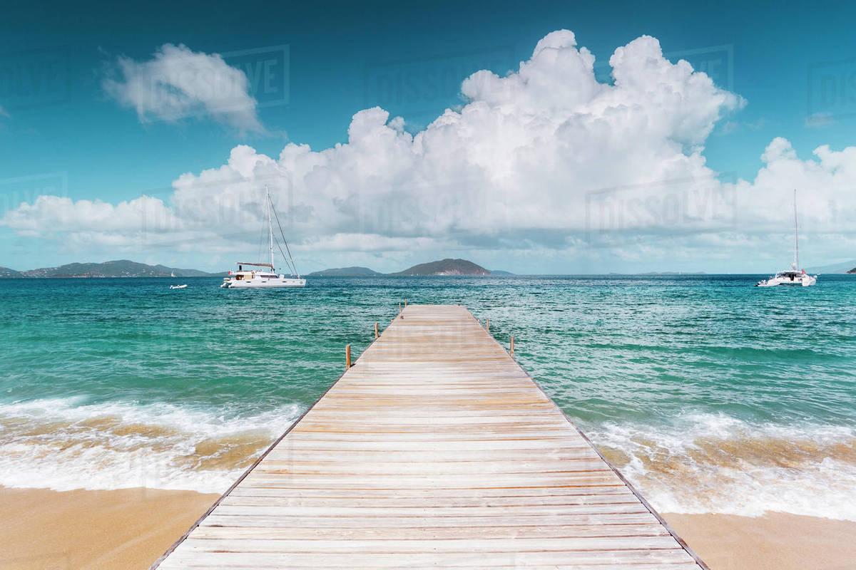 Beach Scene On Caribbean Salt Island British Virgin