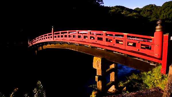 Shin-Kyo Bridge, Tochigi Prefecture, Japan Royalty-free stock video
