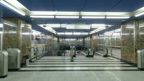 Modern subway station with turnstile. Royalty-free stock video