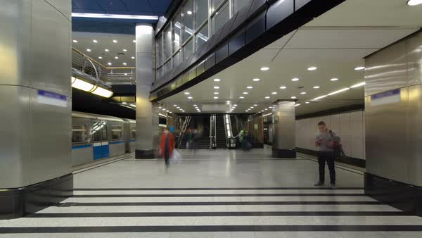 Modern subway station. Royalty-free stock video