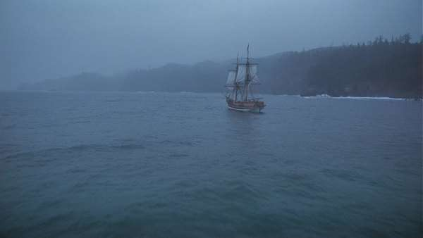 19th-century ship sails Rights-managed stock video