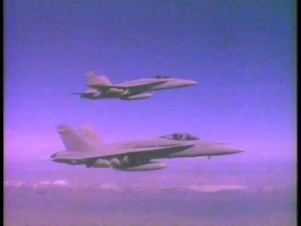 Montage of jet fighters firing missiles Rights-managed stock video