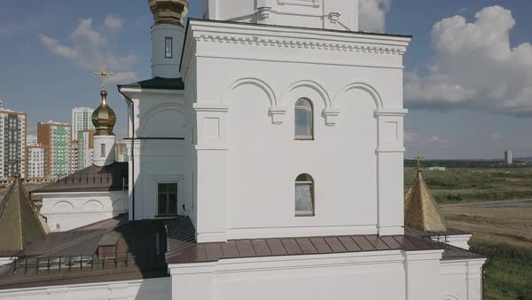 Ekaterinburg. Annunciation Church of the Saints of God's Builders. Academic district. Royalty-free stock video