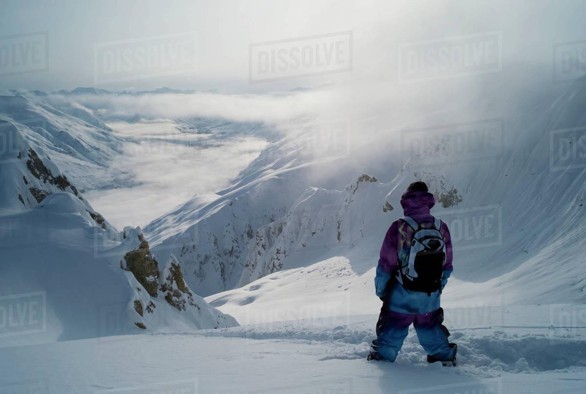 Professional snowboarder, Gigi R Rights-managed stock photo