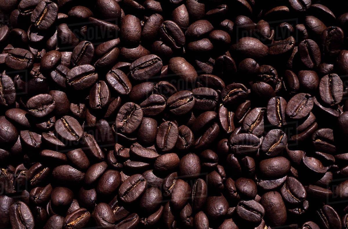 Hawaii, Big Island, Close-Up Of Roasted Kona Coffee Beans. - Stock Photo - Dissolve