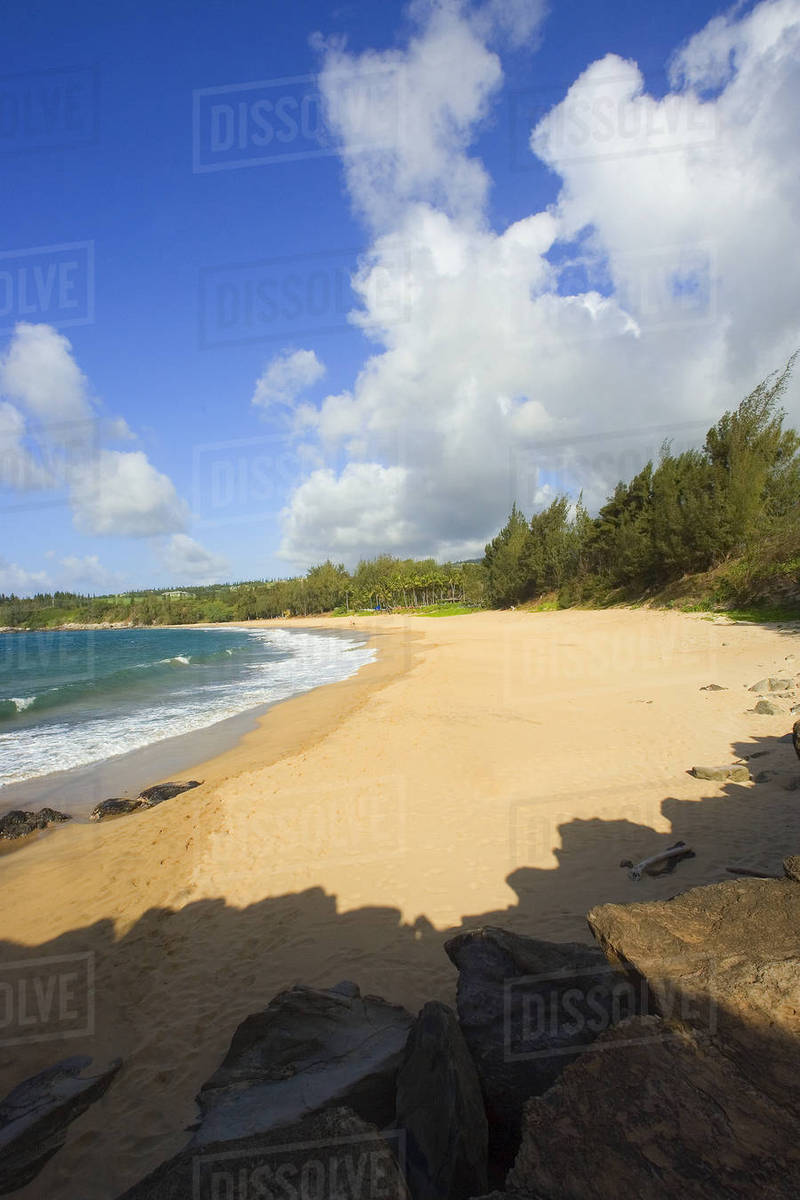 Hawaii Maui Kapalua Fleming Beach Empty White Sand